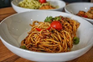 Foto 3 - Makanan(Extreme Aglio Olio) di The H Cafe oleh Fadhlur Rohman