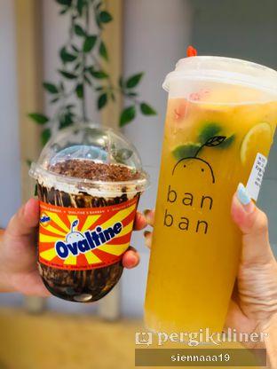 Foto - Makanan((left) double crunchy ovo; (right) ringo tea) di Ban Ban oleh Sienna Paramitha