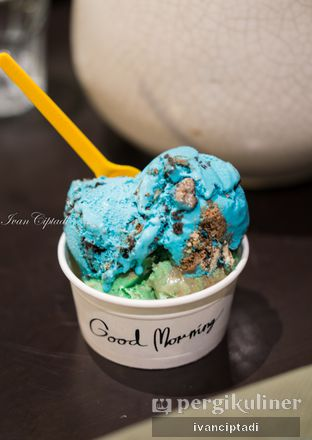 Foto - Makanan(Cookie Monster & Chocolate mint Ice Cream) di Kickass Coffee Works & Hubble Scoop Creamery oleh Ivan Ciptadi @spiceupyourpalette