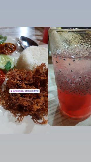 Foto - Makanan(Nasi Empal Kriuk dan Es Selasih) di Angkringan Kapok Lombok oleh Dindatria