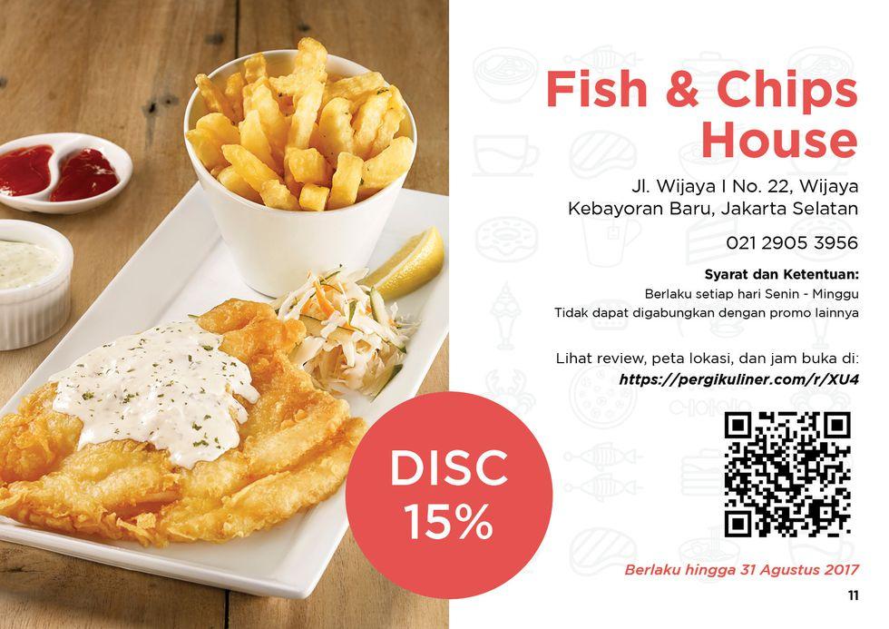 15% - MEMO dari PergiKuliner di Fish & Chips House, Wijaya