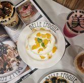 Foto Peach and yogurt pancake di Belle Epoque