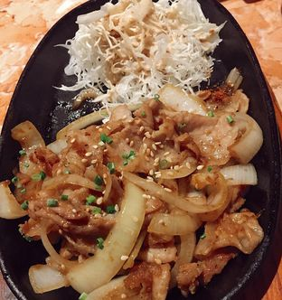 Foto 3 - Makanan(Pork Belly Syogayak) di Fujin Teppanyaki & Japanese Whisky oleh Jeljel