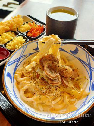 Foto 2 - Makanan(Beef Carbonara Udon) di Marugame Udon oleh JC Wen
