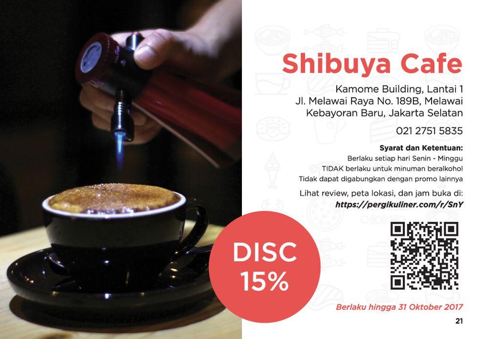 15% - MEMO dari PergiKuliner di Shibuya Cafe, Melawai