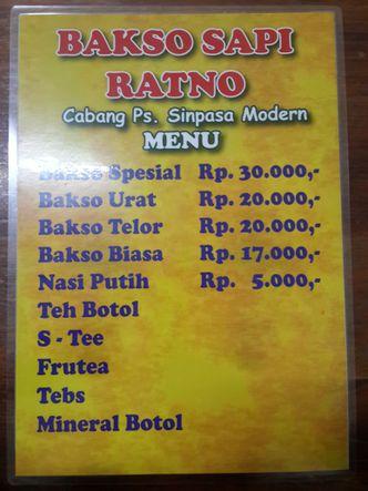 Foto Menu di Bakso Sapi Ratno