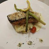 Foto Salmon with Healthy Creamy Dill Sauce di Spice Restaurant - Oakwood Hotel & Residence Surabaya