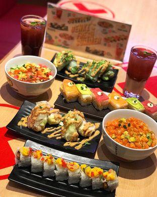 Foto 1 - Makanan di Genki Sushi oleh @belfoodiary