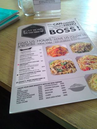 Foto 2 - Menu(Daftar menunya, bisa diliat kan murah bgt :3) di Eat Boss oleh Dicky Septian