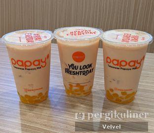 Foto 1 - Makanan(Taiwanese Papaya Milk with Golden Boba) di Papay oleh Velvel