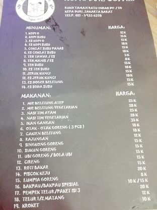 Foto 7 - Menu di Kong Djie Coffee Belitung oleh abigail lin