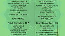 PAKET RAMADHAN, menu rekomendasi di Taman Santap Rumah Kayu