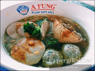 Foto Makanan di A Fung Baso Sapi Asli