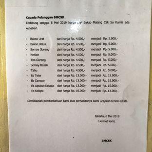 Foto 3 - Menu di Bakso Bakwan Malang Cak Su Kumis oleh Della Ayu
