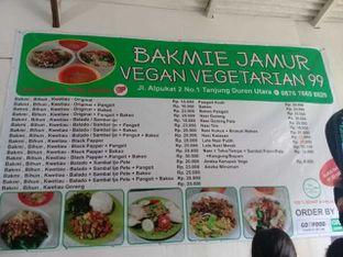 Foto 2 - Menu di Bakmie Jamur Vegan Vegetarian 99 oleh Kaleejah