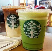 Foto Green Tea Latte (Front), Caramel Macchiato (Rear) di Starbucks Coffee