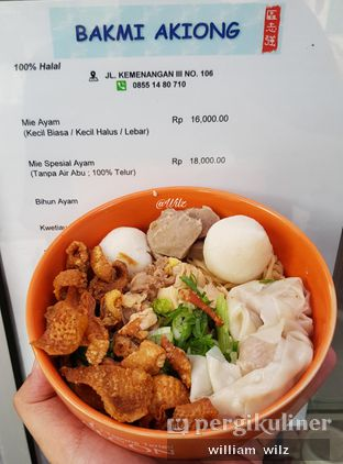Foto 2 - Makanan di Bakmi Akiong oleh William Wilz