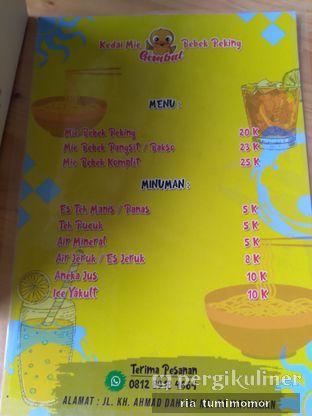 Foto 1 - Menu di Kedai Mie Bebek Peking Gembul oleh riamrt
