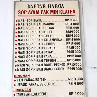 Foto 3 - Menu di Sop Ayam Pak Min Klaten oleh denise elysia
